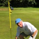 Great Dunmow's Patrick Lavelle after his hole in one at Saffron Walden Golf Club