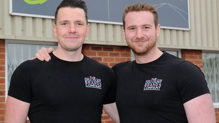 Ownes Dan Yellop with business partner Alex. Picture: Discounts Brand Cash & Carry