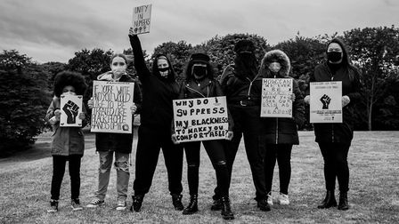 Hundreds turned out to peacefully protest in Stevenage. Picture: Dazza Haggerty