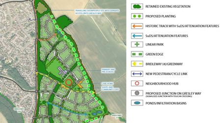 The proposed site layout of the new development.