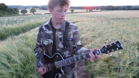 15-year-old Rowan Scourfield released his debut album 'The Beginning of the End' last week. Picture: