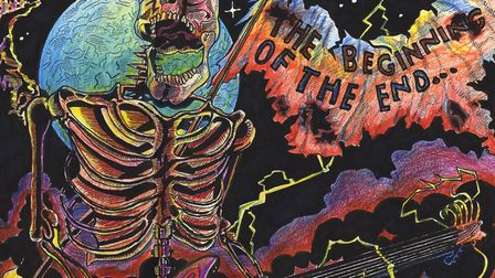 The artwork for 'The Beginning of the End' was created by Charlie Sanders. Picture: Charlie Sanders