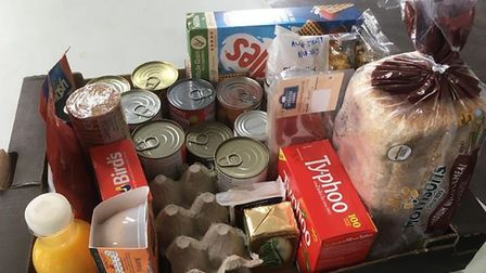 The Salvation Army is acting as a food distribution hub for the town. Picture: Salvation Army