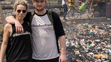 Hitchin couple Tommie Eaton and Rebecca Dudbridge hope to launch @Bambuu&Co. Picture: Supplied