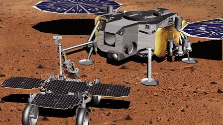 Sample Fetch Rover and transfer module. Picture courtesy of Airbus Defence and Space