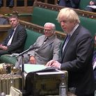 Prime Minister Boris Johnson giving a statement in the House of Commons on the reduction of further