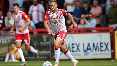 Joel Byrom is one of the 22 players to be released by Stevenage. Picture: GAVIN ELLIS/TGS PHOTO