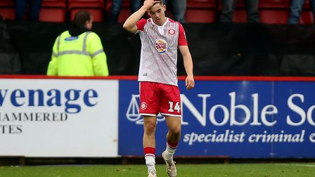 Jamie Fielding is one of the few players to be staying at Stevenage. Picture: GAVIN ELLIS/TGS PHOTO