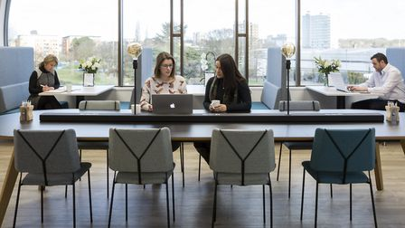 Book a space where your team can meet safely to discuss upcoming projects. Picture: Mantle Business