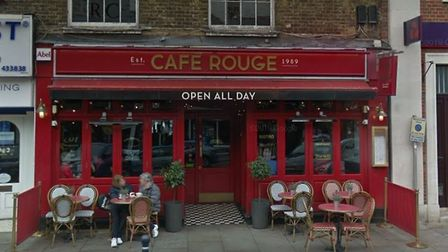 Café Rouge in Hitchin High Street has permanently closed. Picture: Google
