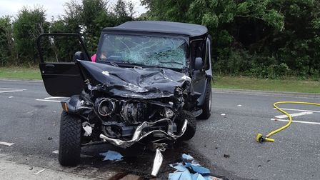 The serious crash has closed Stotfold Road in both directions. Picture: BCH Road Policing Unit