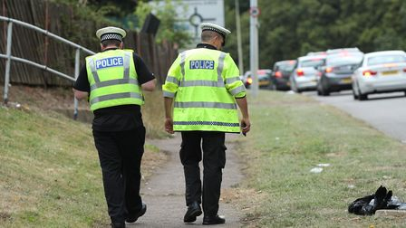Police at the scene of a crash involving two cars on Monkswood Way in Stevenage last year. Picture: