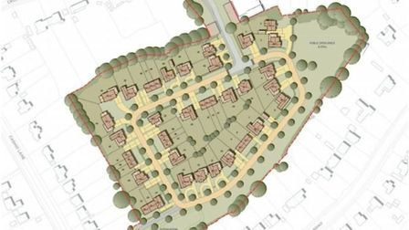 The planning application on the site of the former Norton School playing fields. Picture: NHDC