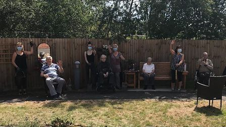 Residents have been using the garden more since it has been redeveloped. Picture: Courtesy of Caroli