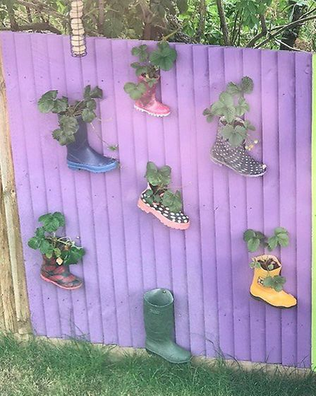 Brght colours and fun designs are encorporated into the newly-developed outside space. Picture: Cour