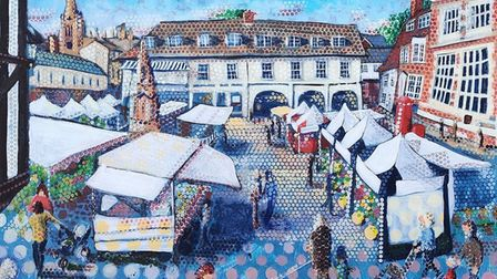 Saffron Walden Market by Sonia Villiers - one of the artists whose work will be shown. Picture: SONI
