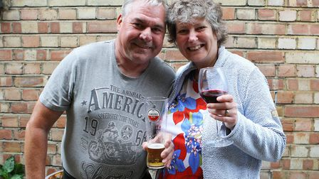 Mr and Mrs Rodgerson enjoy a drink at the Cinnabar.Picture: Karyn Haddon