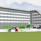 The proposed hotel design. Photo: South Cambridgeshire District Council.