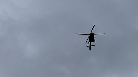 A police helicopter was called out to Stevenage yesterday afternoon. Picture: Danny Loo