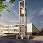 An artist's CGI impression of the new Town Square in Stevenage. Picture: Mace