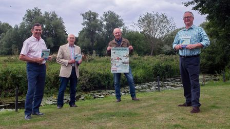 CURAT chairman Colin Day and councillors Neil Hargreaves, Richard Pavitt and Neil Gregory with the l