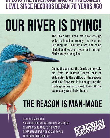 The leaflet has been delivered to households in villages along the River Cam from Newport to Duxford