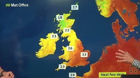 People in Herts are being urged to take extra precautions as temperatures are set to reach 34 degree
