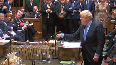 Boris Johnson appearing at prime minister's questions in the House of Commons (Pic: Parliament)