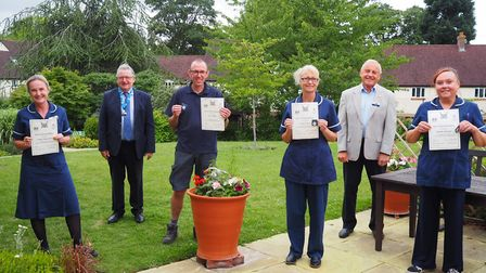 Hospice staff were surprised with an awards ceremony last Thursday. Picture: GHHC