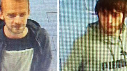 Do you recognise these men? Stevenage police want to speak to them in connection with an iPhone thef