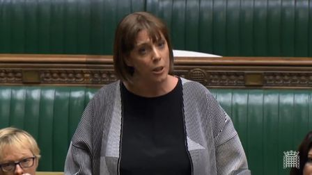 Jess Phillips in the House of Commons. Photograph: Parliament TV.