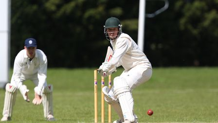 Ickleford's Jack Edwards hit 63 against Holtwhites Trinibis. Picture: DANNY LOO