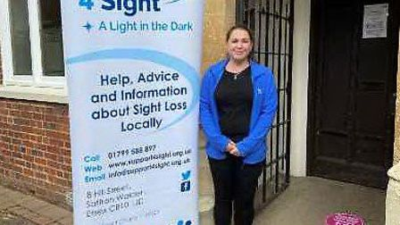 Cheryl Sugarman from Support 4 Sight outside the new Resource Centre.