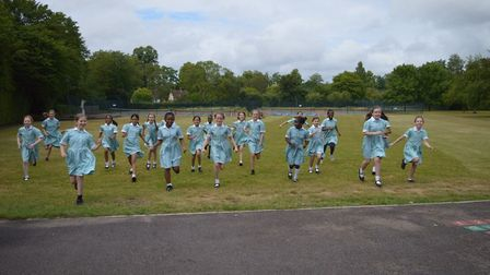 Year 6 pupils from St Francis College in Letchworth. Picture: Vladimir Butin