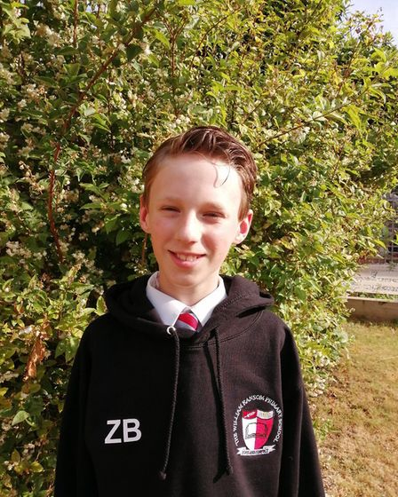 Zak Bryan, who has just finished Year 6 at William Ransom School in Hitchin alongside his twin broth