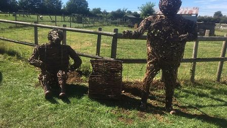 The sculptures have been moved to a safer location at Standalone Farm. Picture: Heritage Foundation