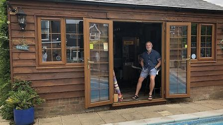 Dave Spencer, from Ickleford, is hoping to see his shed-cum-bar crowed the 2020 Shed of the Year. Pi