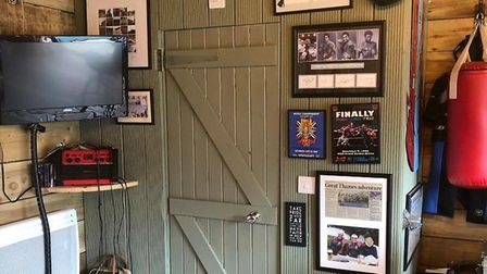 Inside 'Eric's', the Ickleford shed turned bar that could be crowned 2020 Shed of the Year. Picture: