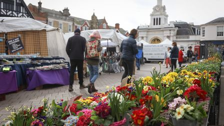Saffron Walden market. Photo: Celia Bartlett Photography.