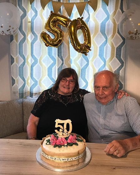 Rita and Robert celebrated their 50th wedding anniversary last year. Picture: Courtesy of Rita Hewit