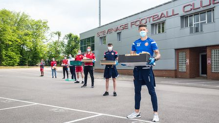 Stevenage FC launched their Community Careline in response to the coronavirus pandemic. Picture: Jim
