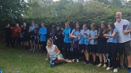Year 6 pupils from Stonehill School in Letchworth bid an emotional goodye to primary school. Picture