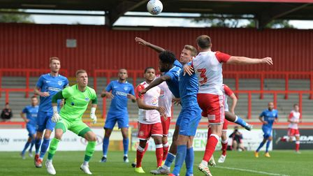 Stevenage will play Portsmouth in the Carabao Cup first round. Picture: DAVID LOVEDAY/TGS PHOTO