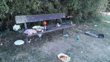 Residents say they are fed up with the littering taking place in Swinburne Playing Fields. Picture: