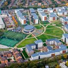 University of Hertfordshire College lane Campus Aerial photography by Pete Stevens ©