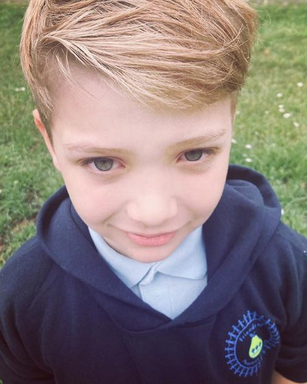 Charlie Holden, who has just finished at Peartree Spring Primary School in Stevenage. Mum Hannah You
