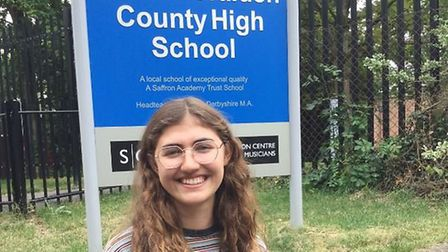 Millie Wolter, one of the top performers at Saffron Walden County High School in this year's A-Level