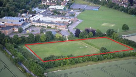 The site in Saffron Walden for the 3G artificial grass pitch.
