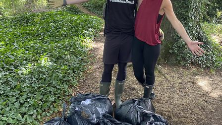 @BambuuBrush founders Tommie and Rebecca have collected more than 500kg of waste and plastic from Hi