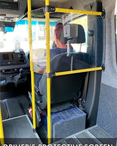 The driver has a protective screen on the minibus. Picture: Uttlesford Community Travel